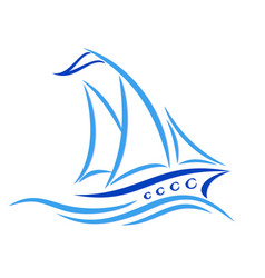 Sailing vessel with a wave vector