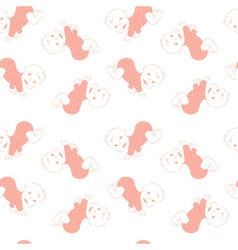 seamless pattern with cute crawling babies vector image