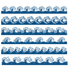 set from waves vector image