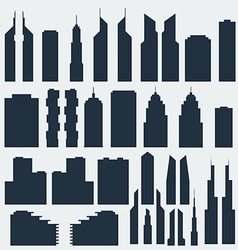 Silhouettes of skyscrapers vector