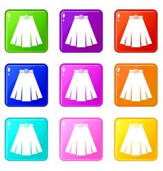 Skirt set 9 vector
