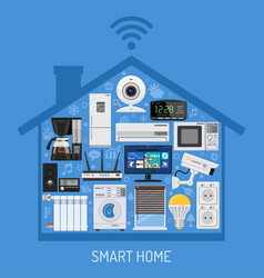 Smart home and internet things concept vector