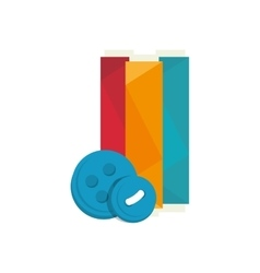 Spool of colorful thread vector