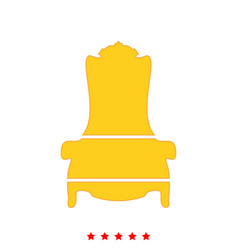 Throne it is icon vector