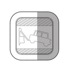 Towing a car vector