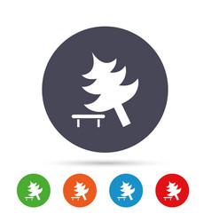 tree sign icon break down tree symbol vector image