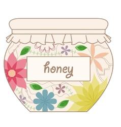 Vintage honey jar vector
