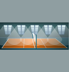 volleyball arena concept banner cartoon style vector image