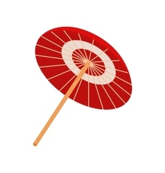 Asian parasol or umbrella icon isometric 3d style vector image vector image
