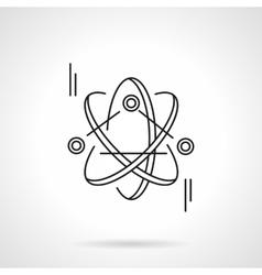 Atom model flat line icon vector image vector image