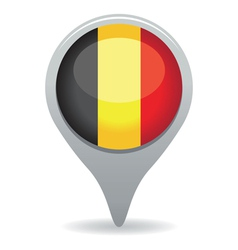 belgium flag pointer vector image vector image
