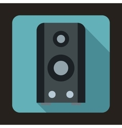 Black sound speaker icon in flat style vector image