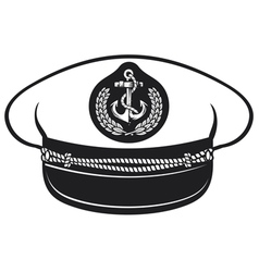captain hat vector image vector image