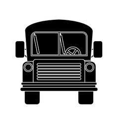 front view school bus with wheels vector image vector image