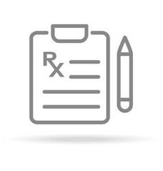 medical prescription icon in trendy thin line vector image vector image