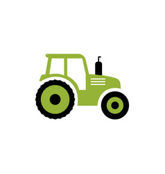 tractor flat icon farm symbol isolated on vector image