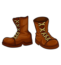 A pair of brown boots vector image