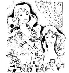 beautiful ladies vector image vector image