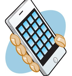 Iphone hand vector