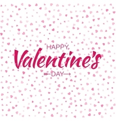 Pink Happy Valentines Day Card hearts background vector image vector image