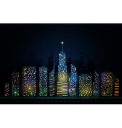 night city skyline vector image