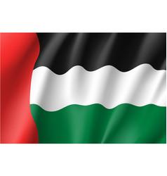 Waving flag of united arab emirates vector