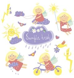 weather girl vector image
