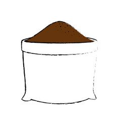 bag of soil icon vector image