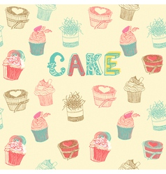 Cupcakes Pattern Background vector image vector image