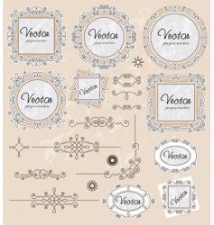 ornaments 02 vector image