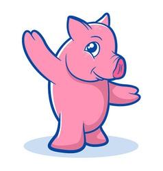 Pink Pig Cartoon vector image