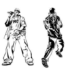raper on white background extreme theme modern vector image