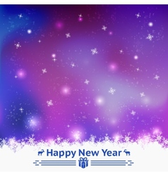 Winter seamless background Happy New Year vector image vector image