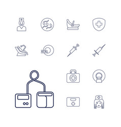 13 clinic icons vector