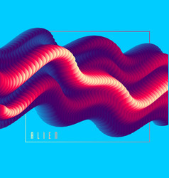 3d fluid gradient color abstract background vector