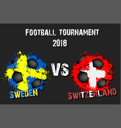 4303 - sweden vs south korea vector image