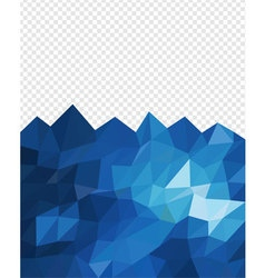 Abstract triangle blue ocean vector image