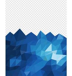 Abstract triangle blue ocean vector