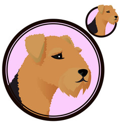 Airdale head in circle vector