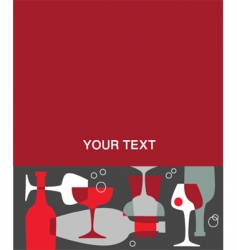 alcohol menu vector image
