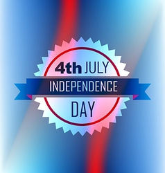 american independence day label vector image
