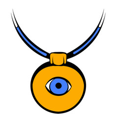 Amulet against evil eye icon icon cartoon vector