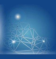Blue cyberspace polygonal background vector