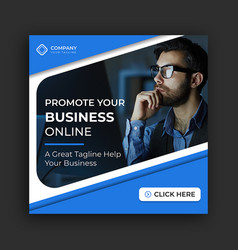 Business instagram banner post template design vector