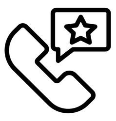 Call feedback vector
