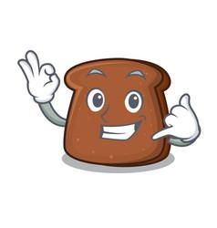 Call me brown bread mascot cartoon vector