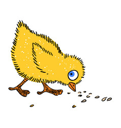 Cartoon image of chicken vector