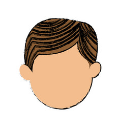 character face man default cartoon vector image