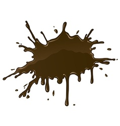 Chocolate splash blot with vector