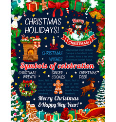 christmas holiday celebration poster vector image